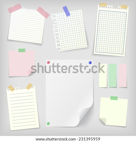 Blank Sticky Paper Notebook Papers And Blank