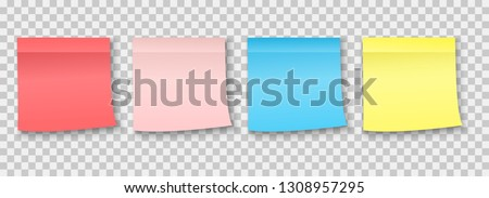 Post note sticker. Paper sticky note piece.Collection of various Colorful noticeboard stickers , blank post stickies