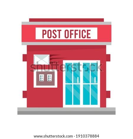 post office building facade icon vector illustration design
