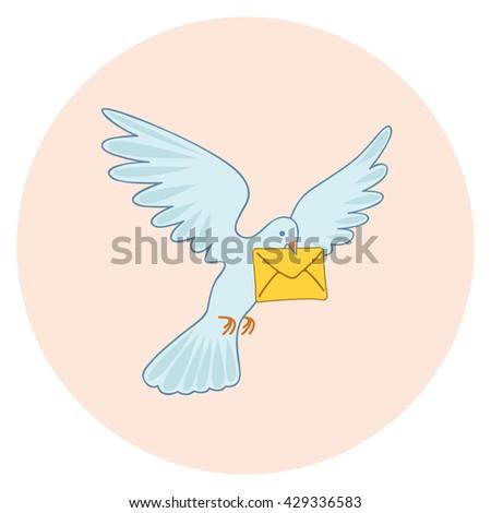 post pigeon vector