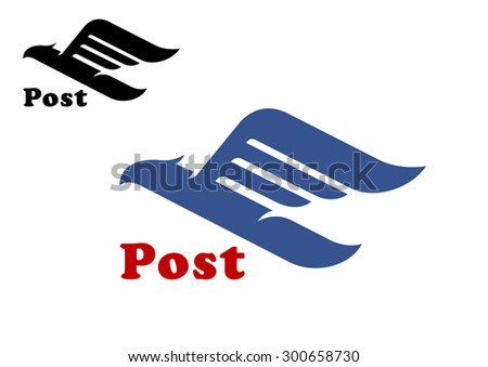 post symbol with abstract blue