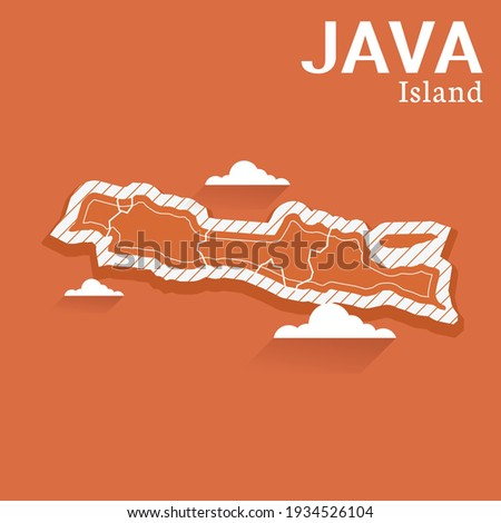 Post template for social media Java Island vector map , High detailed illustration. Java Island, part of Indonesia, country in Asia. Foto stock ©