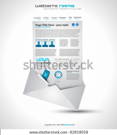 Postage high tech Website - Elegant Design for Business Presentations. Template with a lot of design elements. Every Shadow is transparent