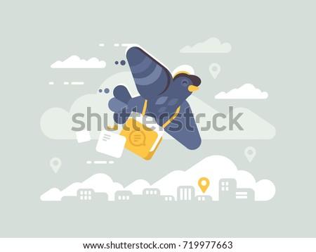 postage pigeon character homer