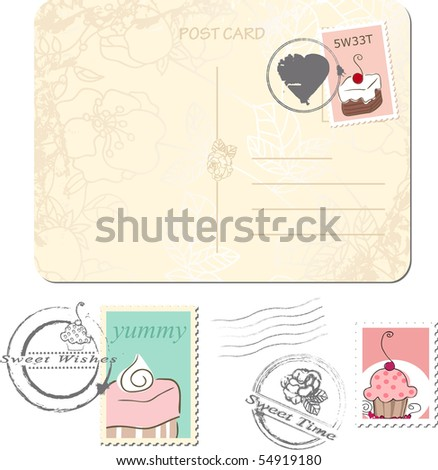 postage set - sweets
