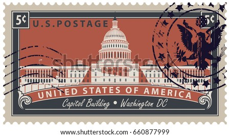 postage stamp with inscriptions ...