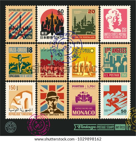postage stamps  cities of the