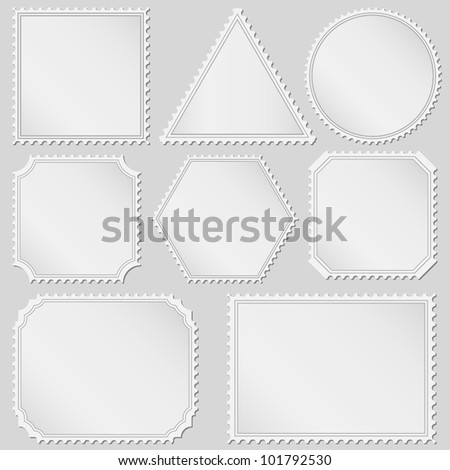 Postage stamps, vector eps10 illustration