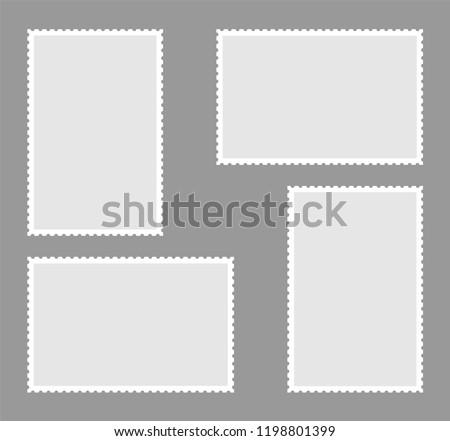 Postage Stamps. Vector illustration