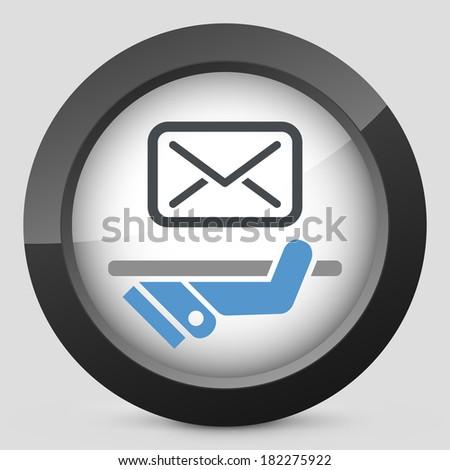 Postal agencies icon - stock vector