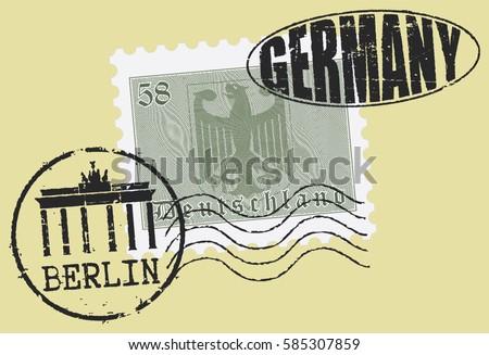 postal stamp symbols 'berlin