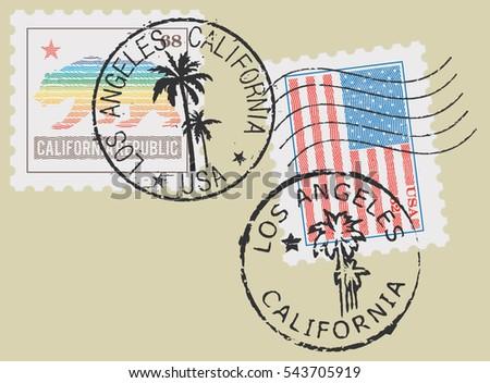 postal stamp symbols 'los...