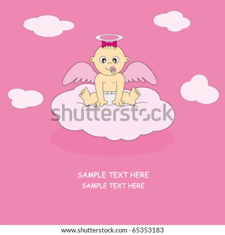 postcard angel girl