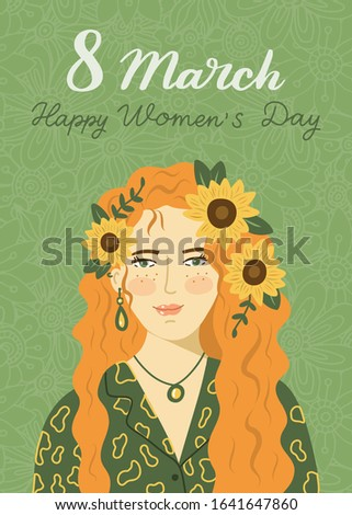 postcard for women's day on