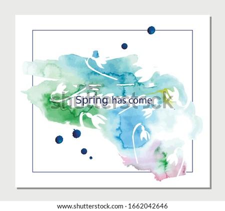 postcard spring has come