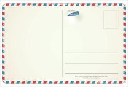 Postcard vector retro vintage design
