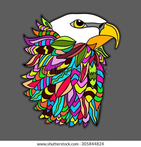 postcard with an eagle's head