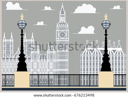 postcard with london...