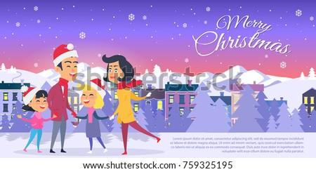 postcard with merry christmas