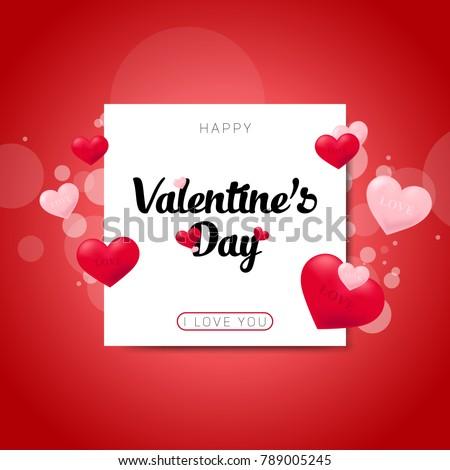 Postcards happy Valentine's day #789005245