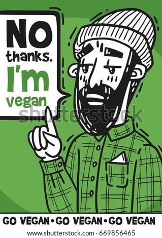 poster bearded hipster