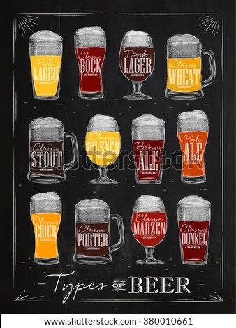 poster beer types with main