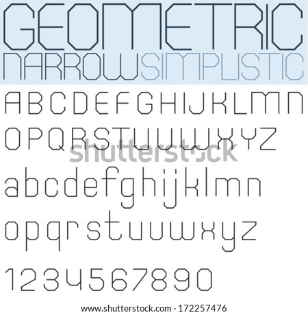 poster black geometric font and