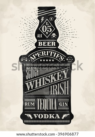 poster bottle of alcohol with