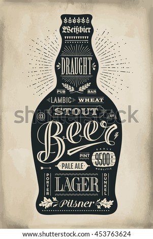 poster bottle of beer with hand