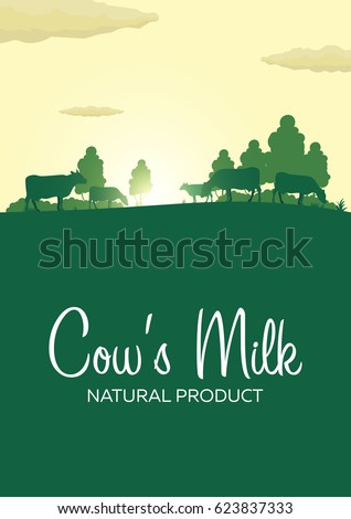 poster cow's milk natural