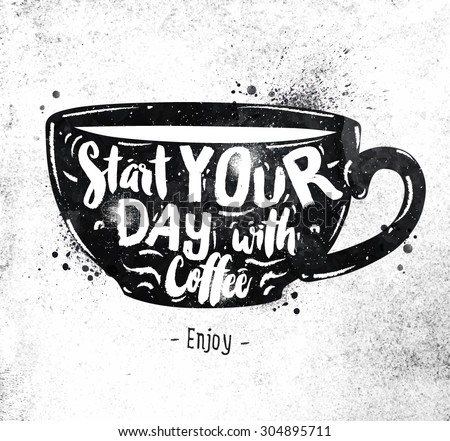 poster cup lettering start your