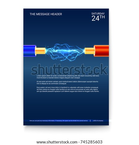 poster design  electric cable