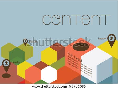 Poster design/Layout design/Colorful cubes