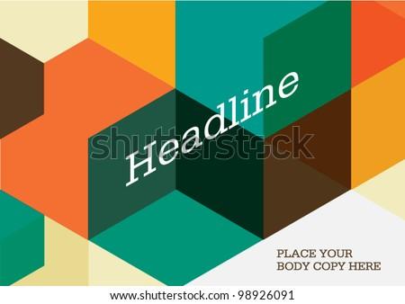 Poster design/Layout design/Colorful cubes