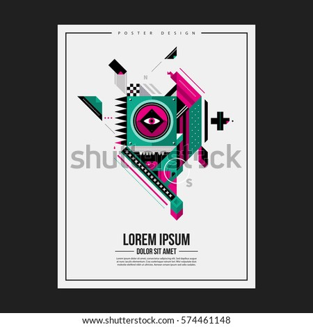 poster design template with