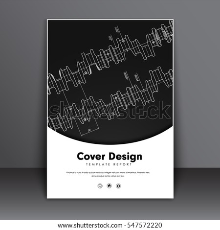 poster design with a black