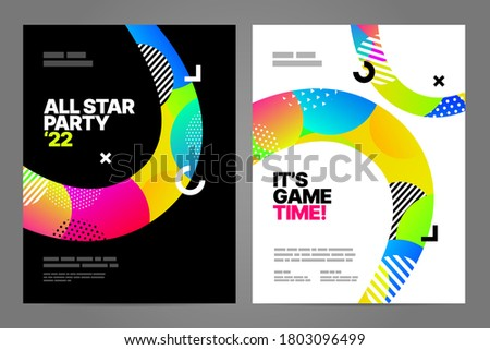 Poster design with dynamic shapes for sport action, invitation, awards or championship. Sport background.