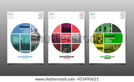 Poster , Flyer Template, Circle Abstract Background