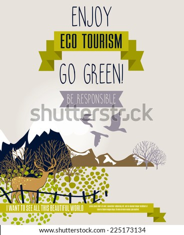 poster for eco tourism with