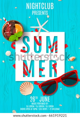 poster for summer party top