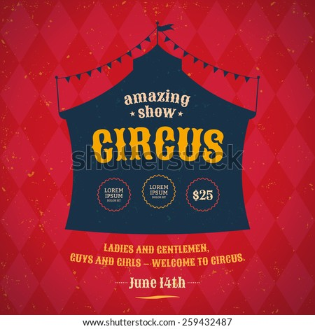 poster for the circus....
