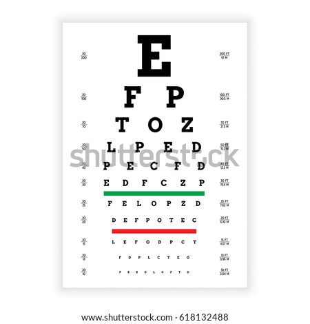 poster for vision testing in