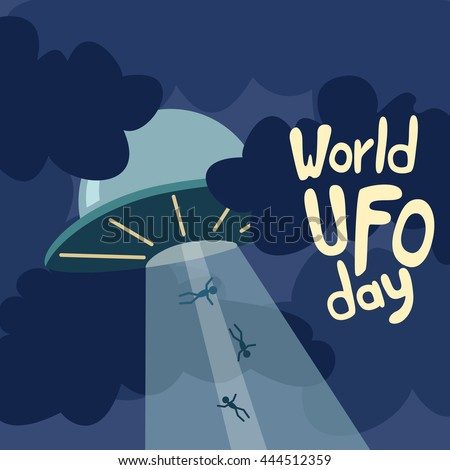 poster for world ufo day with