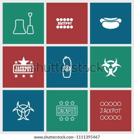 poster icon collection of 9