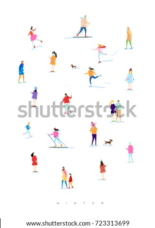 poster illustrated people on a