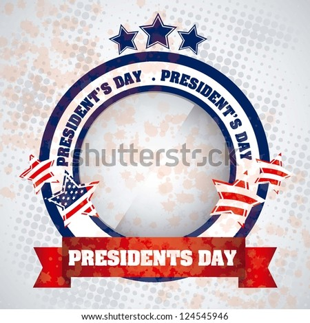 Poster illustration of President's Day in the United States of America, vector illustration