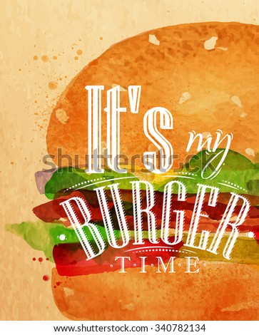 poster lettering its my burger