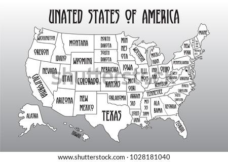 Florida Map Hand Drawn Illustration Vector - Download Free Vector ...