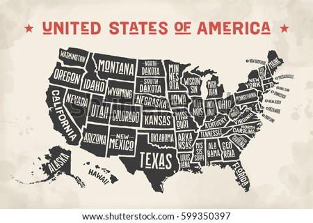 Free US Map Silhouette Vector - Usa map black