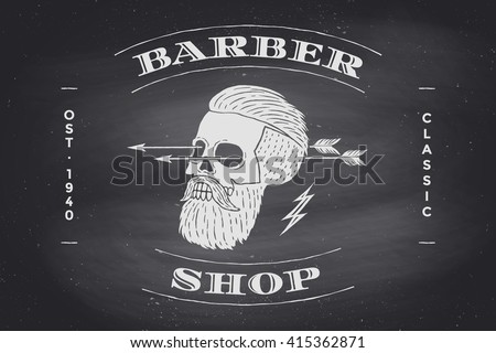 poster of barber shop label on